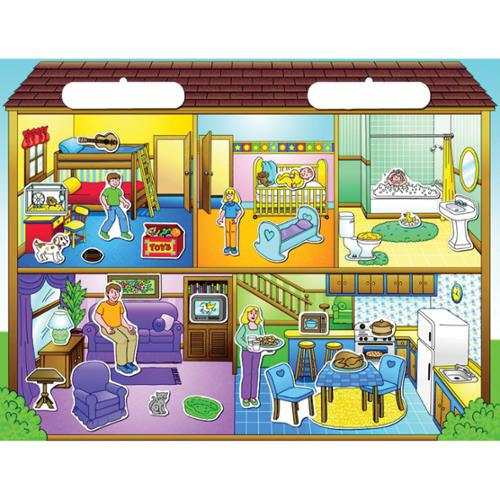 Magnetic Create-A-Scene Kit-Doll House