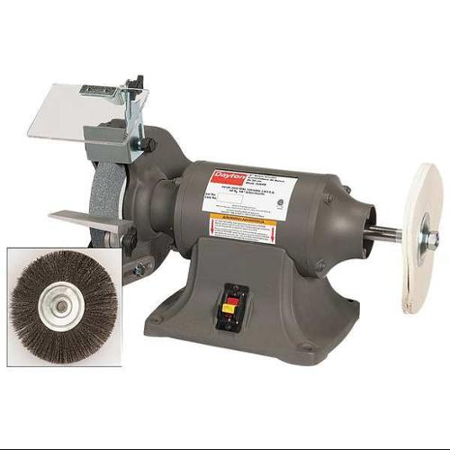 DAYTON 16W006 Bench Grinder\/Buffer, 8 In