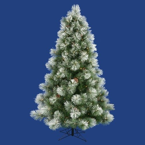 Vickerman Co. Flocked Scotch Pine 90'' Artificial Christmas Tree with Clear Lights