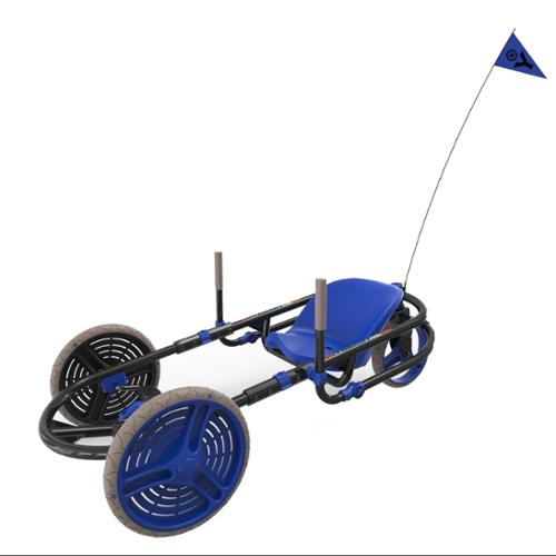 Y-Bike Explorer 2.0 Deluxe 3-Wheel Kids Ride-On Bicycle Go Kart YBike | Blue