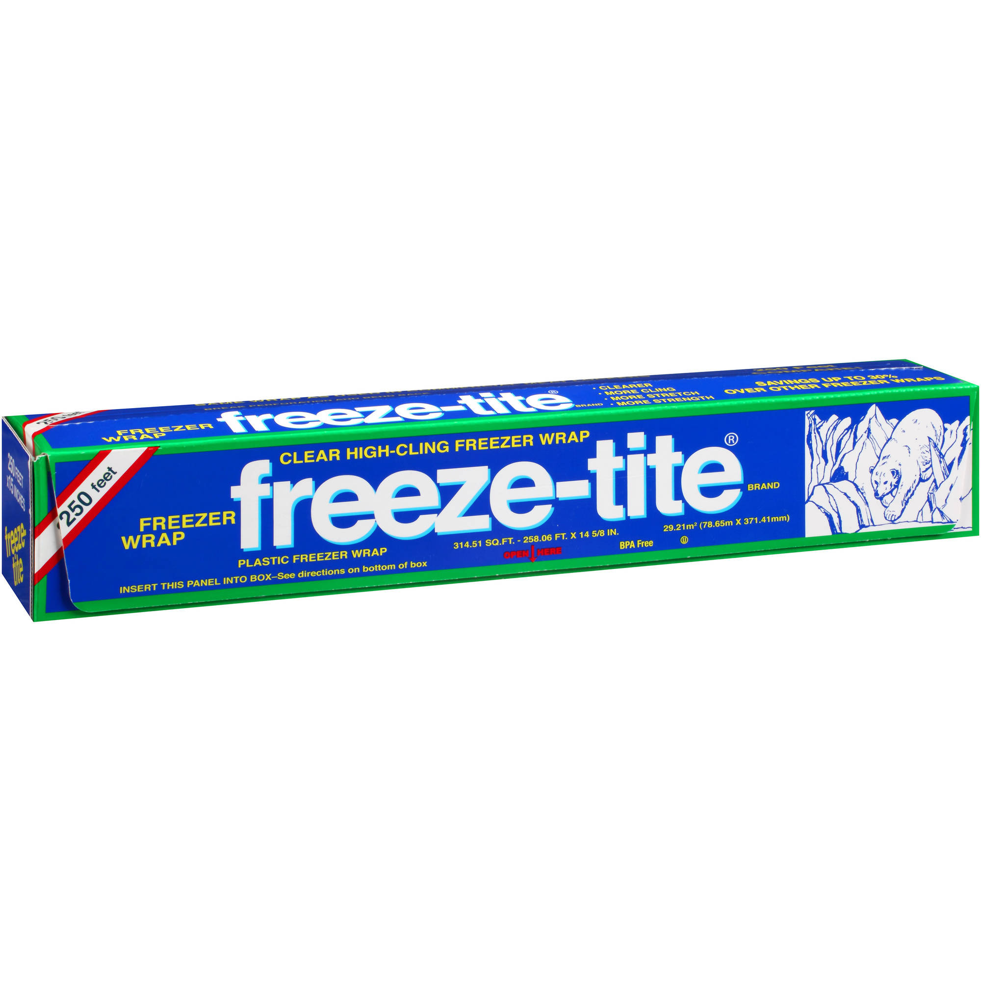 freeze-tite Plastic Freezer Wrap, 314.51 sq ft