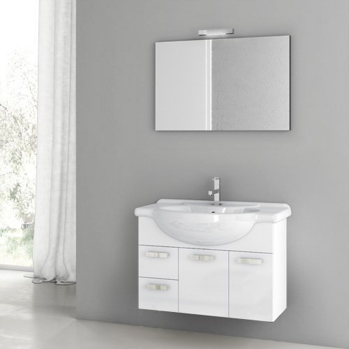 ACF by Nameeks ACF PH01-GW Phinex 32-in. Single Bathroom Vanity Set - Glossy White