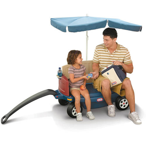 Little Tikes Deluxe Ride & Relax Wagon with Umbrella