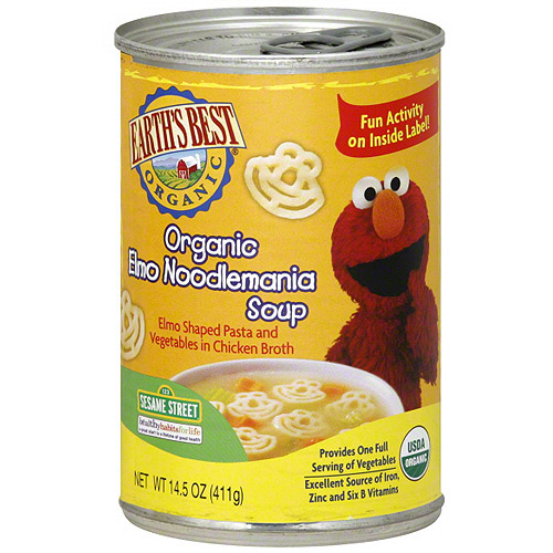 Earth's Best Organic Elmo Noodlemania Soup, 14.5 oz (Pack of 12)