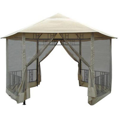 Hexagon Gazebo with Insect Screen