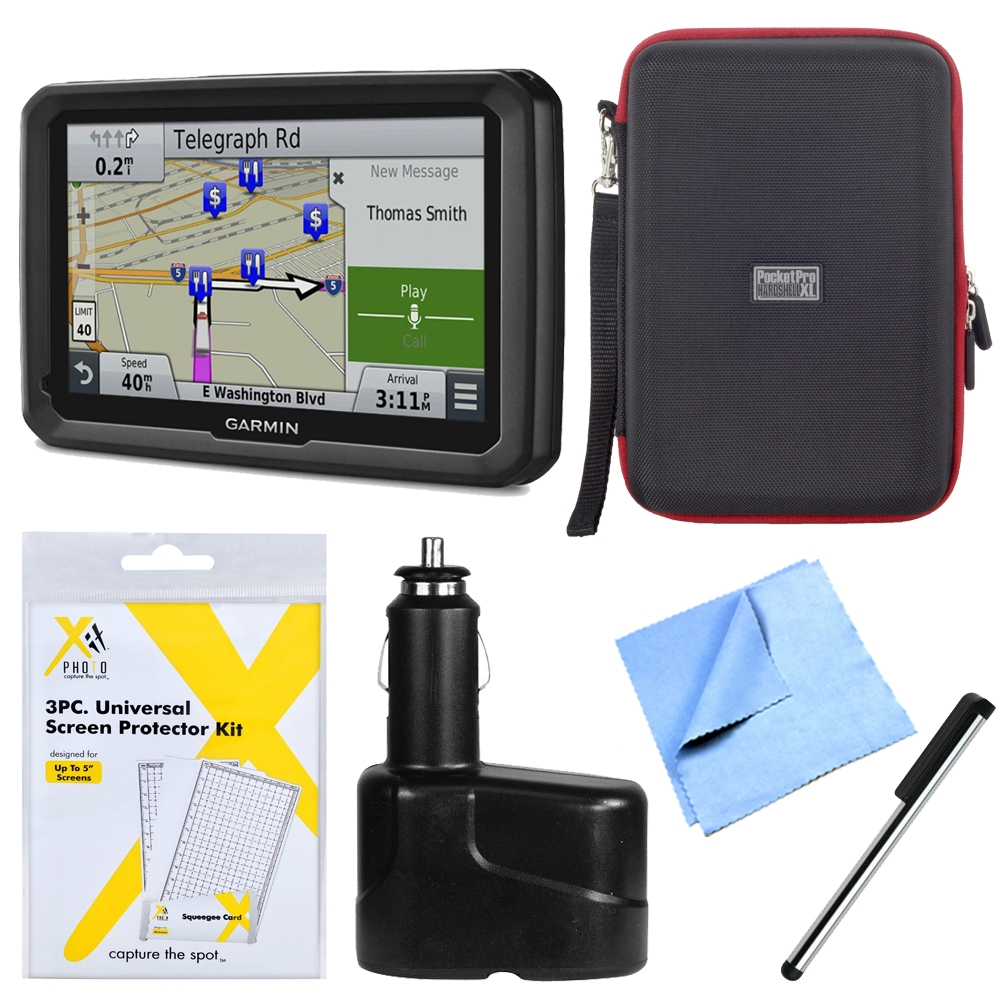 "Garmin dezl 770LMTHD 7"" GPS Navigation System with Lifetime Map/Traffic Updates Bundle"