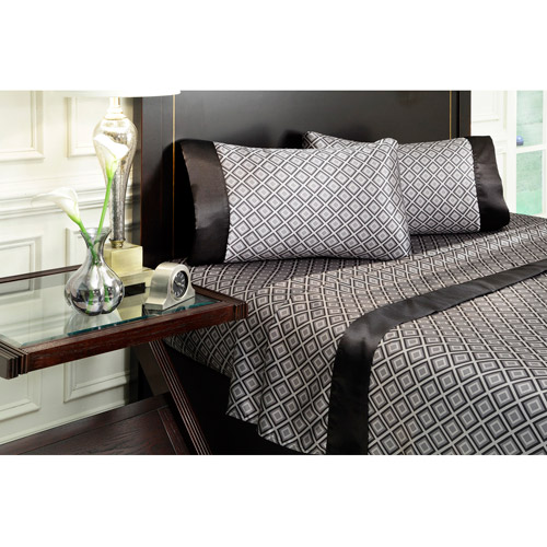 Royal Opulance Satin Print Sheet Set, Soho