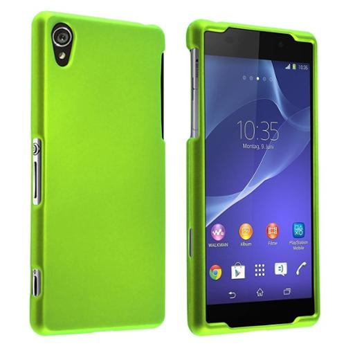 Insten Neon Green New Ultra Slim Snap-On Hard Phone Cover Premium Case For Sony Xperia Z2