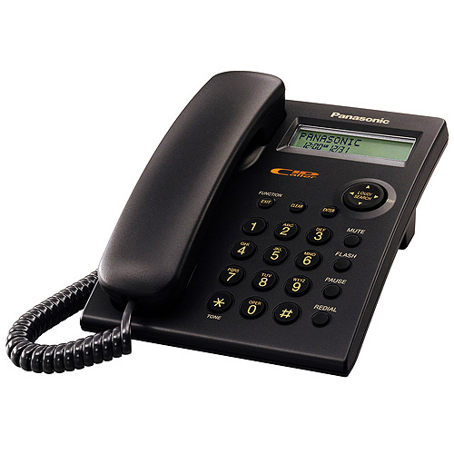 Panasonic KX-TSC11B Black 1-Line Corded Integrated Telephone System