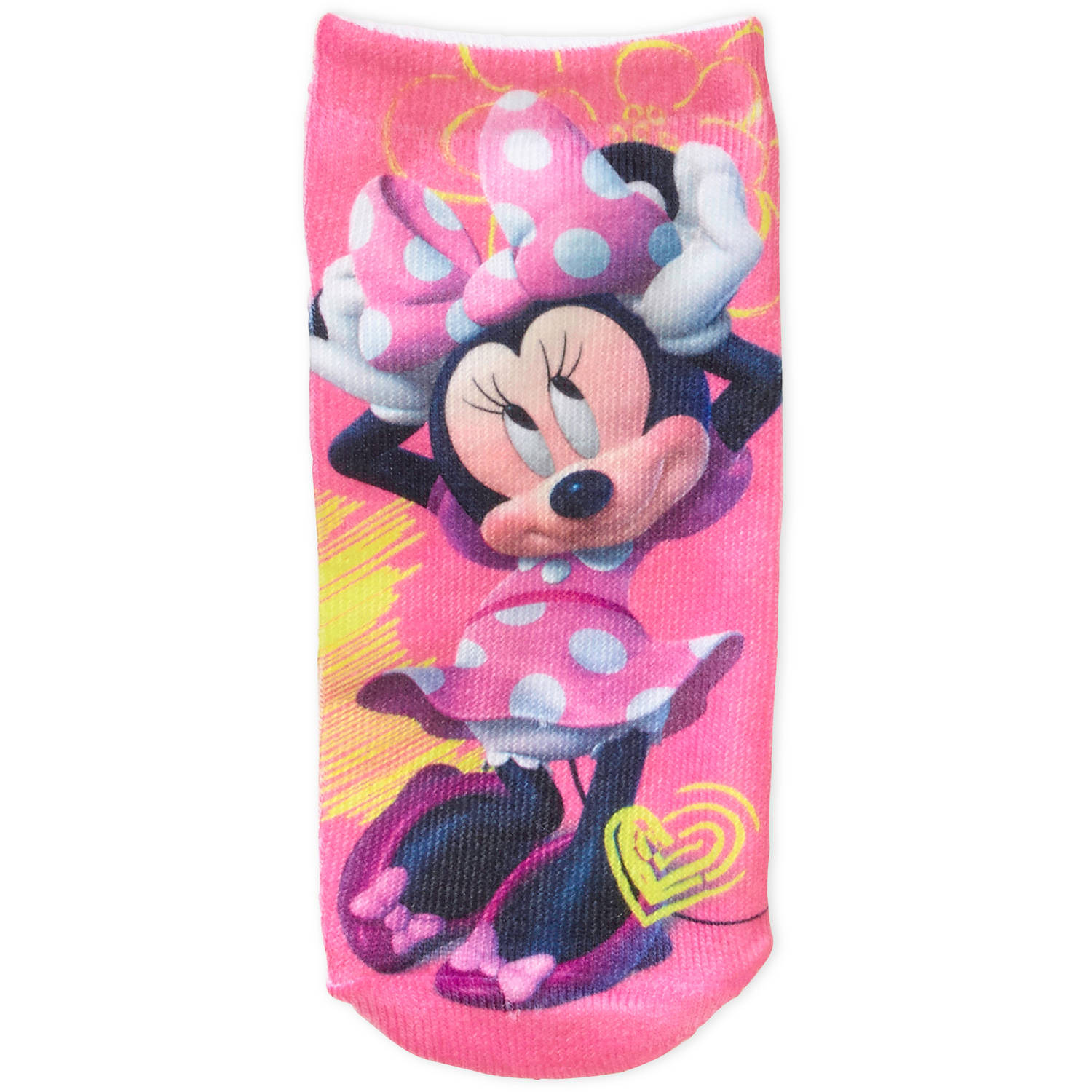 Minnie Mouse Toddler Girl No Show Socks, 3-Pack