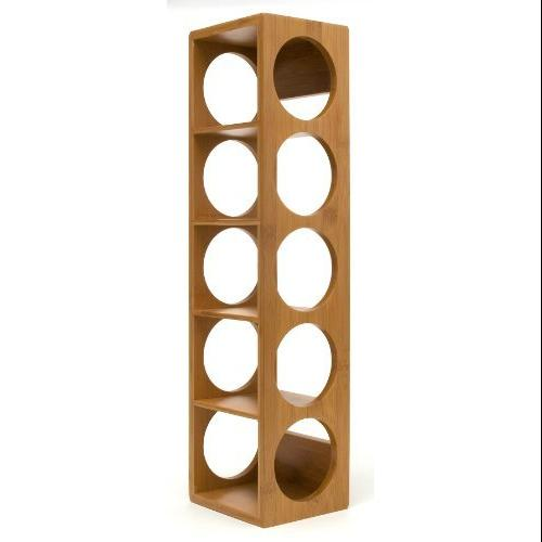 Lipper International 5-Bottle Bamboo Stacking Wine Rack