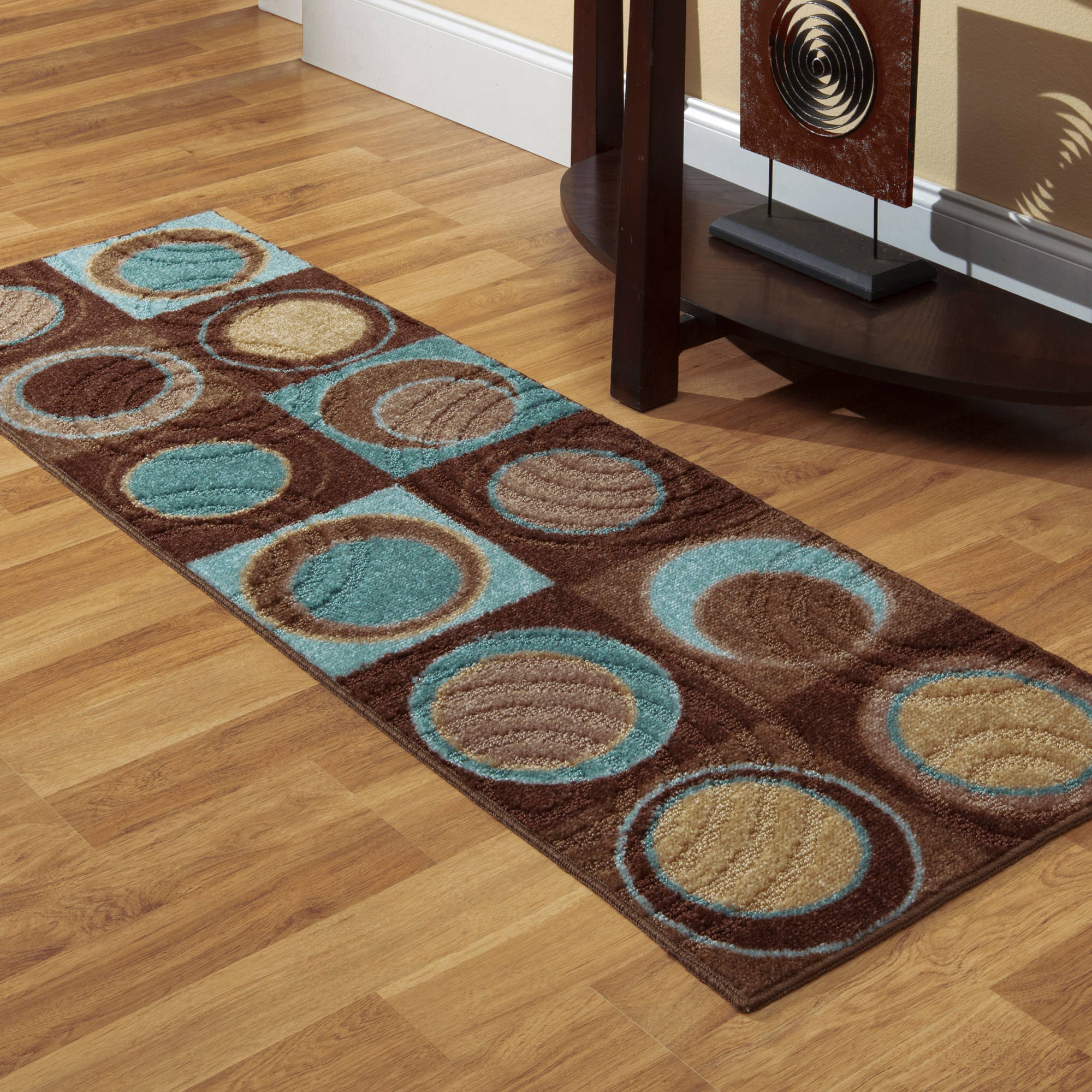 "Better Homes and Gardens Circle Block Runner Rug, 1'11"" x 6"""