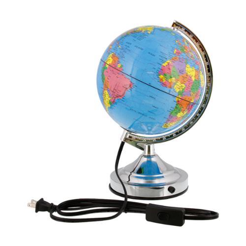"8"" Inch (20cm) Illuminated Blue Ocean Rotating Desktop World Earth Globe"