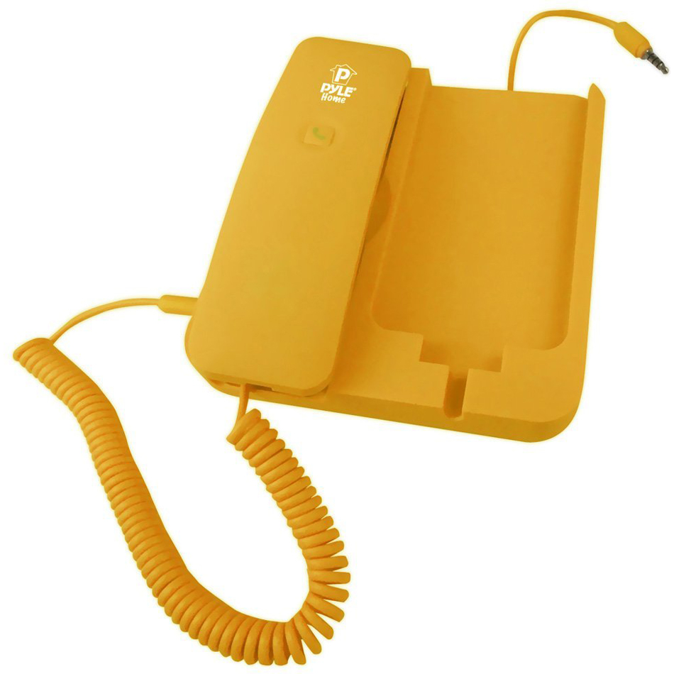Pyle Handheld Phone and Desktop Dock for iPhone, Ipad & Android - Yellow
