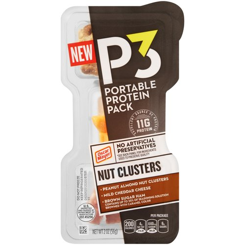 Oscar Mayer P3 Nut Clusters Portable Protein Pack, 2 oz
