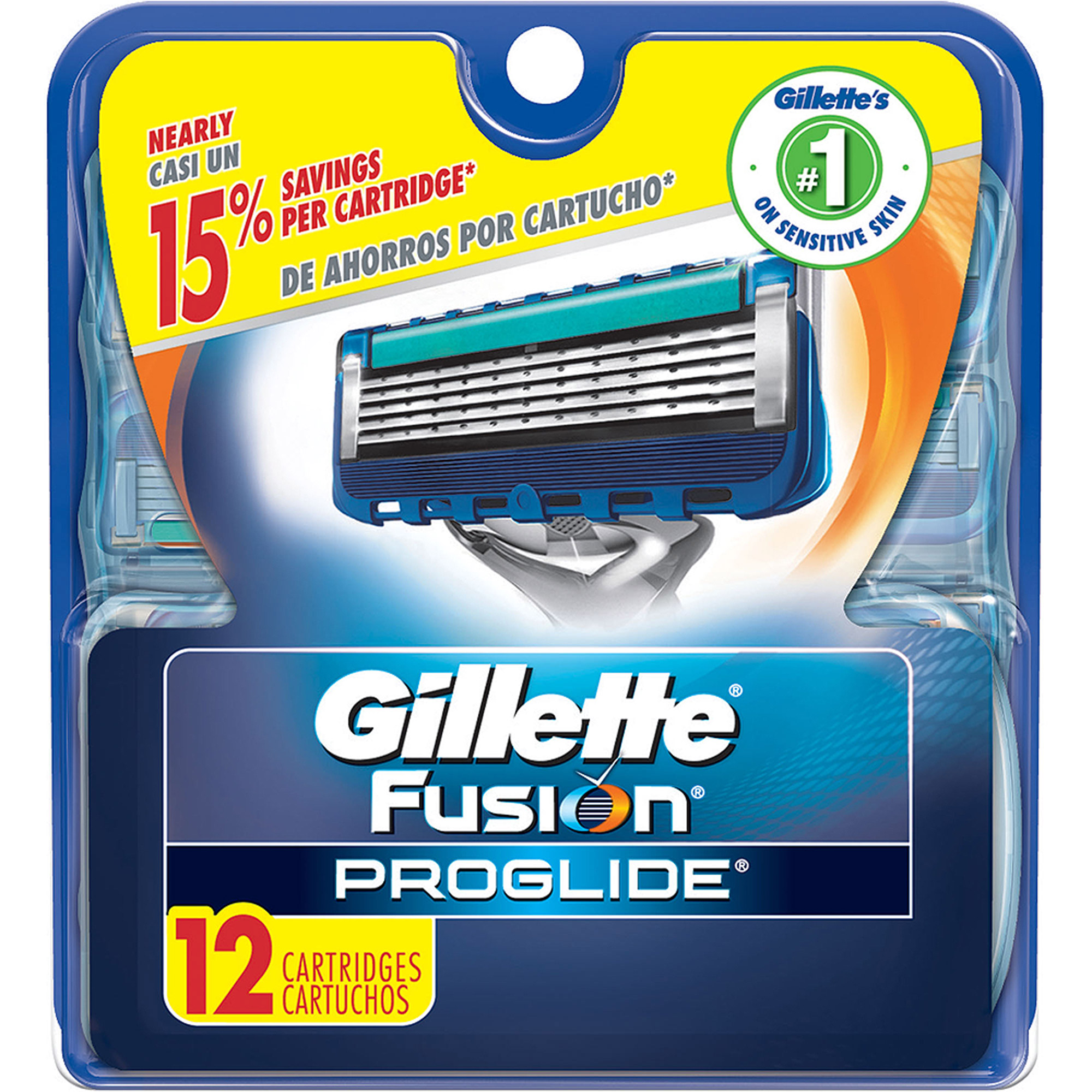Gillette Fusion ProGlide Razor Cartridge Refills, 12 count
