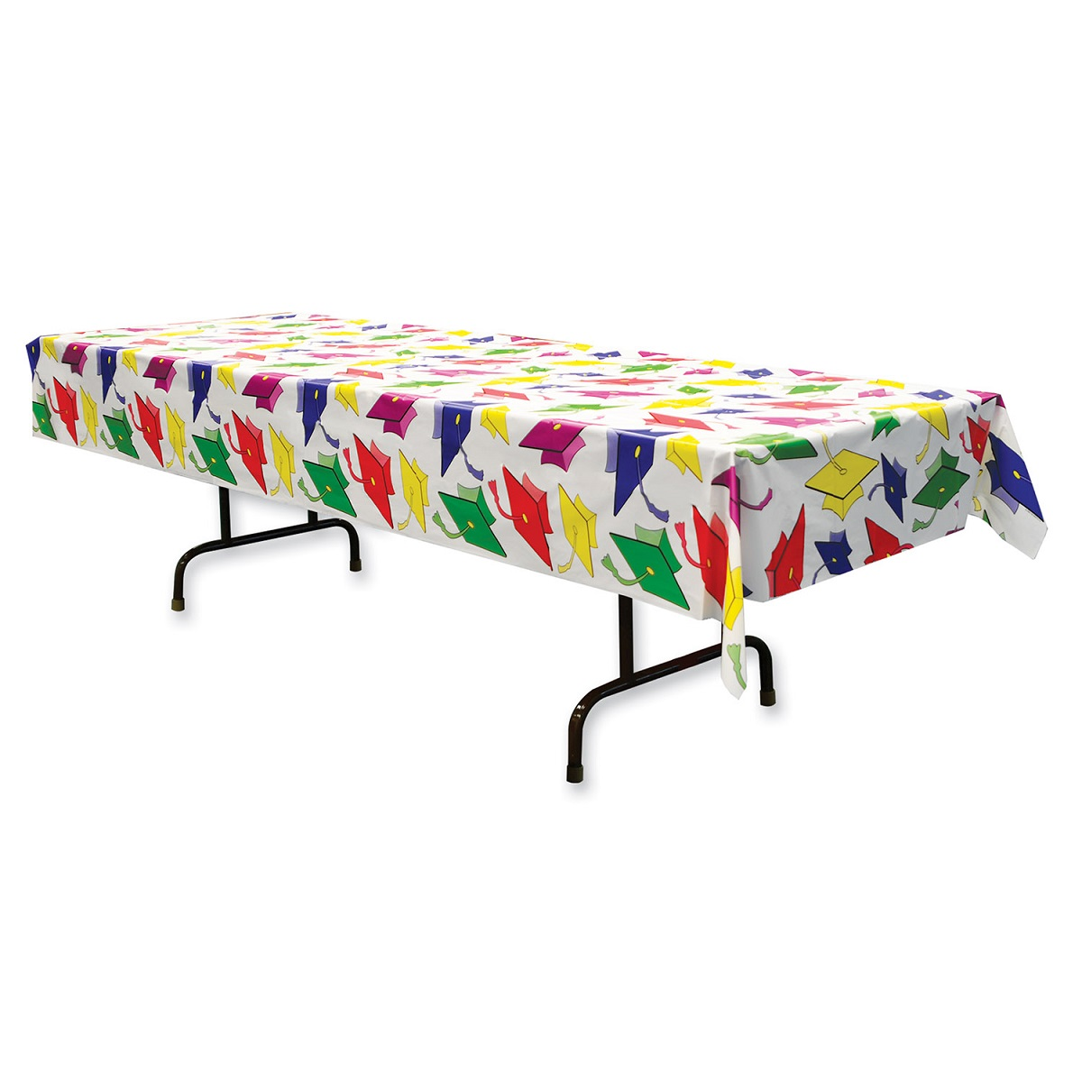 Club Pack of 12 Graduation Disposable Rectangle Plastic Banquet Party Table Covers 108