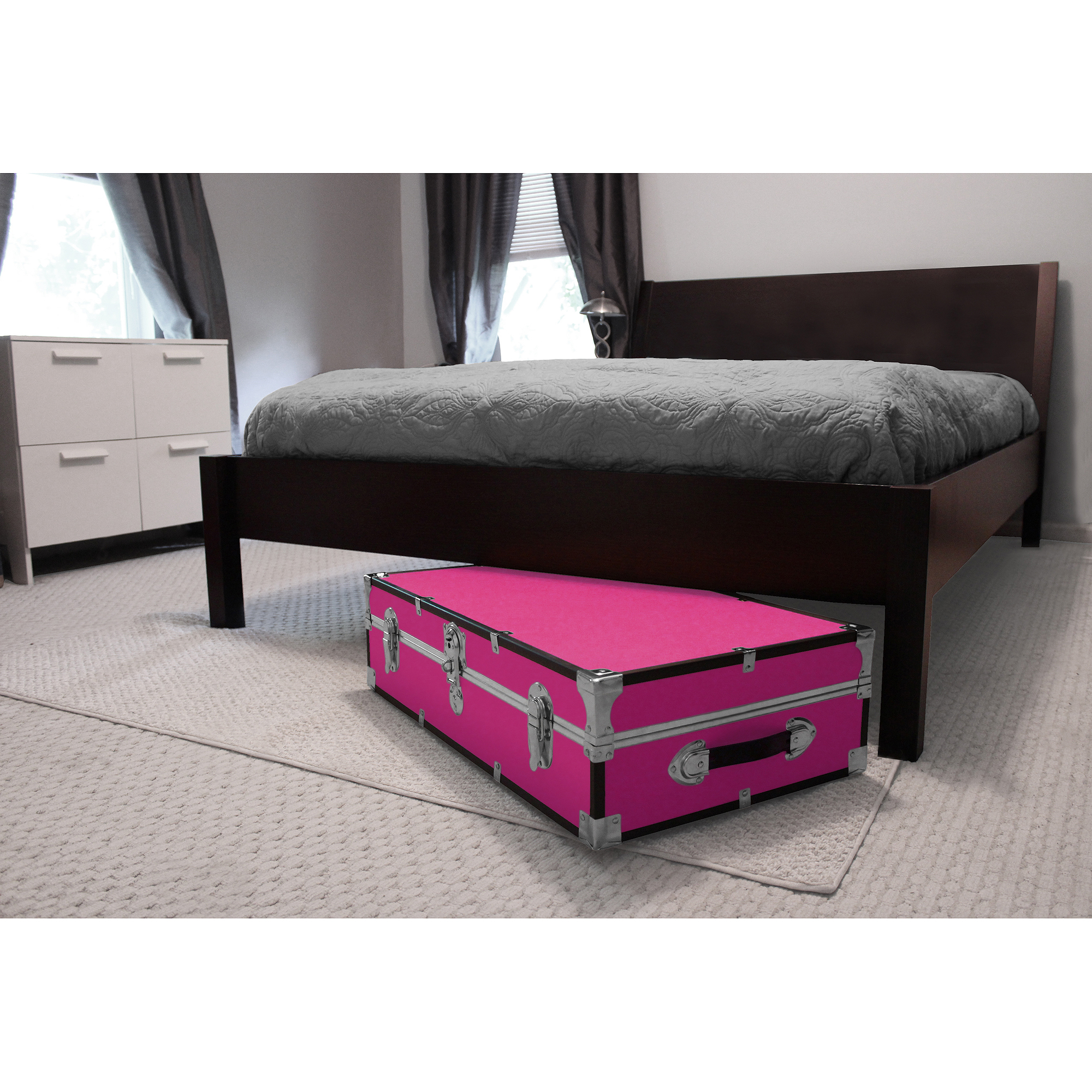 Mercury Luggage Seward Under the Bed Wheeled Storage Footlocker, 31""