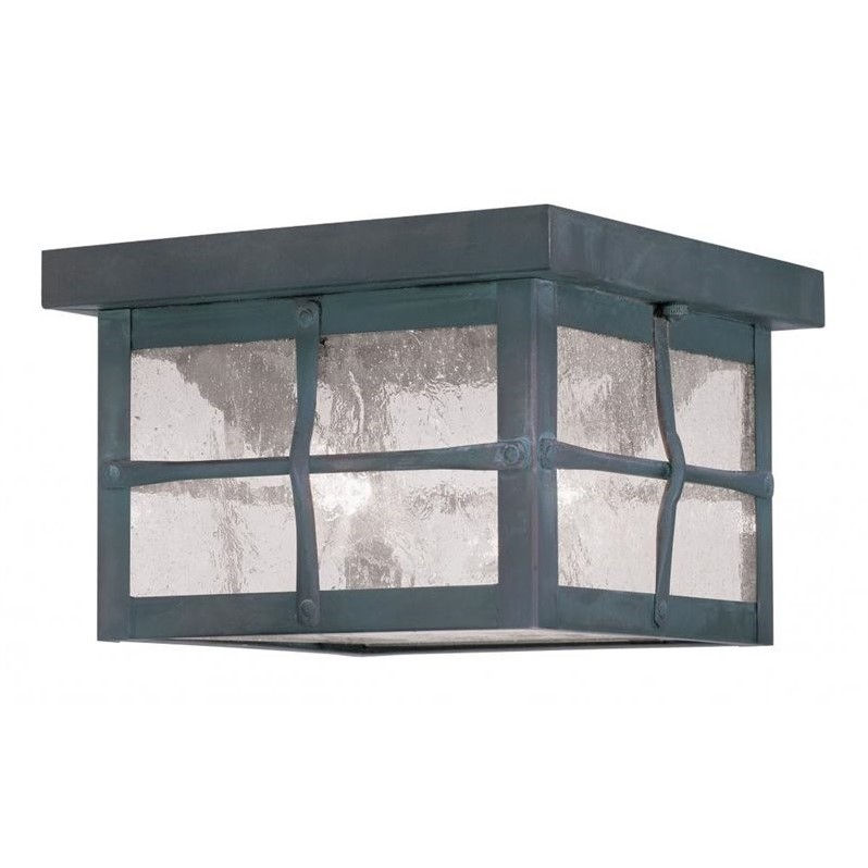 Livex Brighton Outdoor Ceiling Mount in Hammered Charcoal Finish