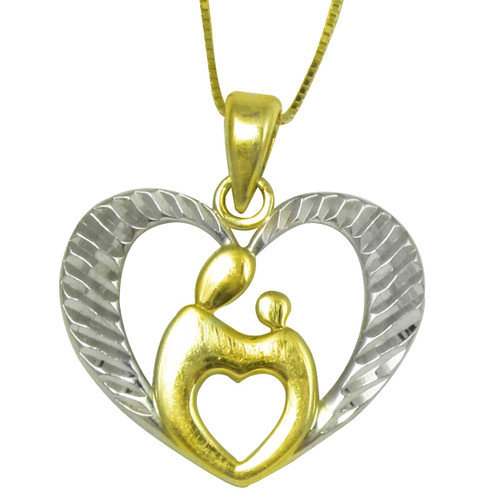 Trendbox Jewelry Diamond Cut Mother and Child Pendant