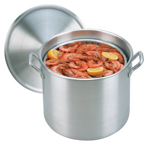 KING KOOKER Model# KK80-80qt. Alminum Boiling Pot with Lid and Basket