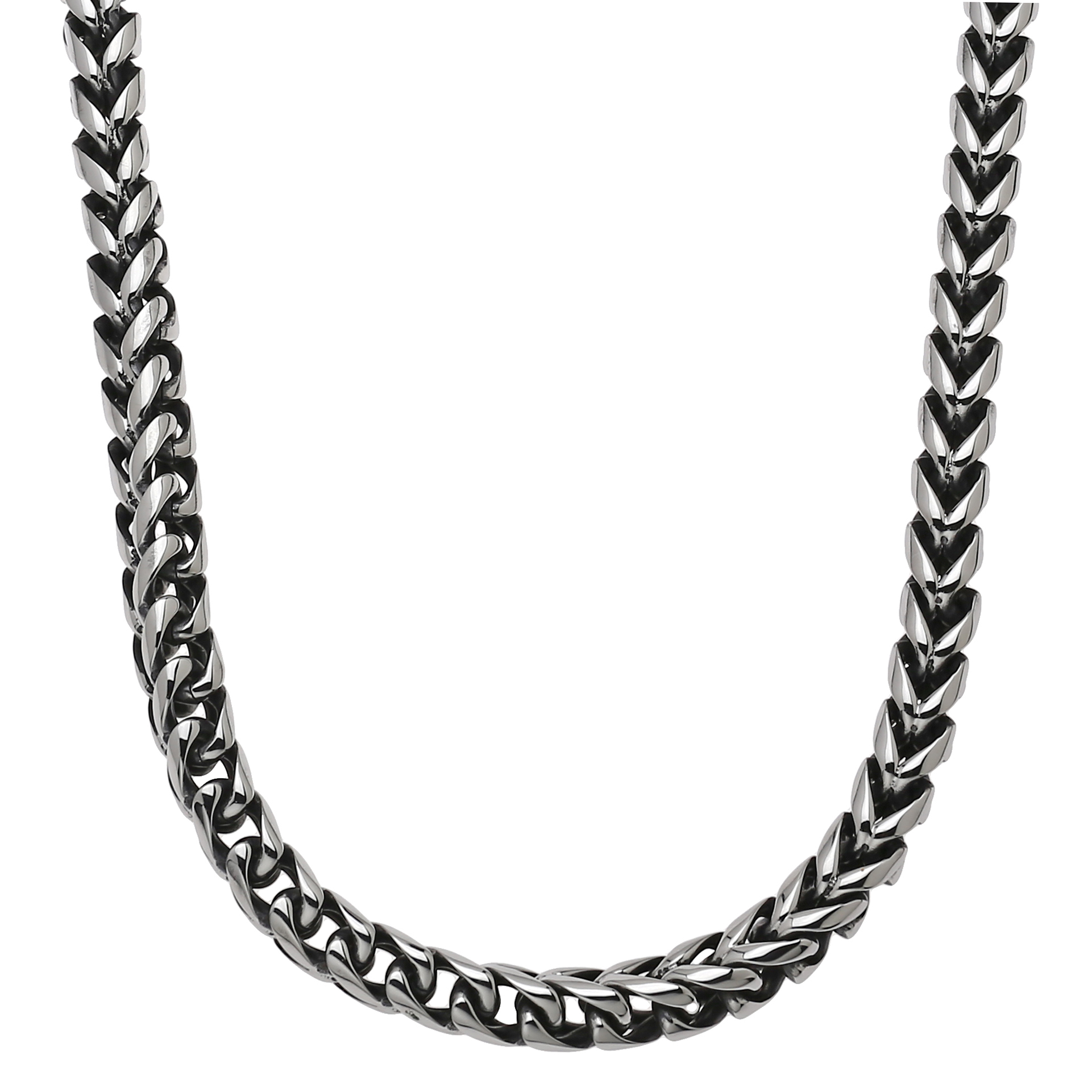 Metro Jewelry Stainless Steel Foxtail Necklace BP