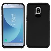Dual Armor Case Compatible with Samsung Galaxy J3 Orbit, Slim Shockproof Hybrid Protection Cover Case for Samsung Galaxy J3 Orbit - Black