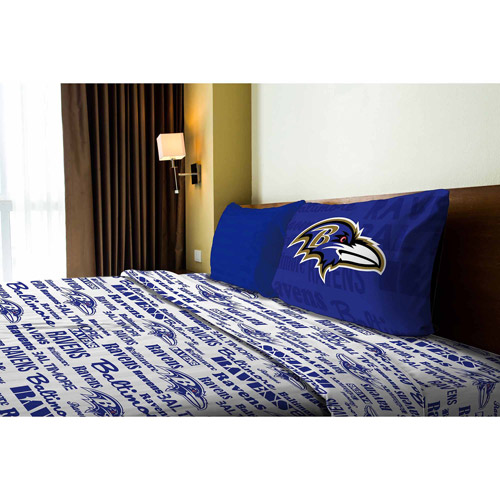 NFL Anthem Bedding Sheet Set, Ravens