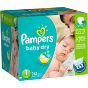 Pampers Baby Dry Diapers, Size 1 (Choose Diaper Count)