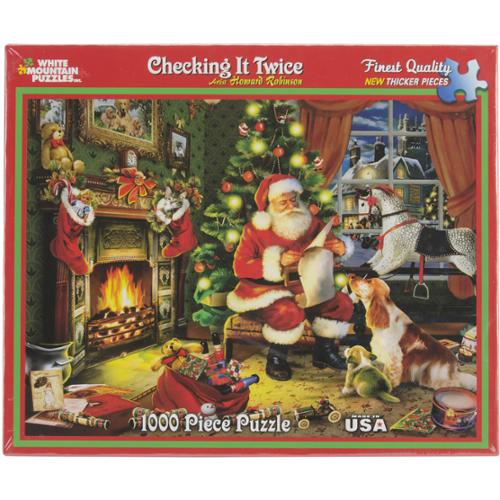 Checking It Twice - Santa Puzzle 1000 Pieces