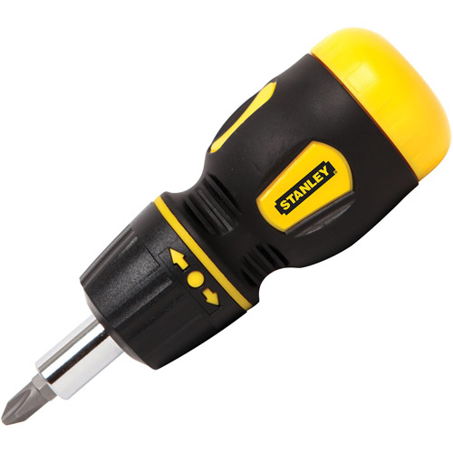 Stanley Hand Tools 66-358 Stanley Multi-bit Stubby Screwdriver with Bit Holder