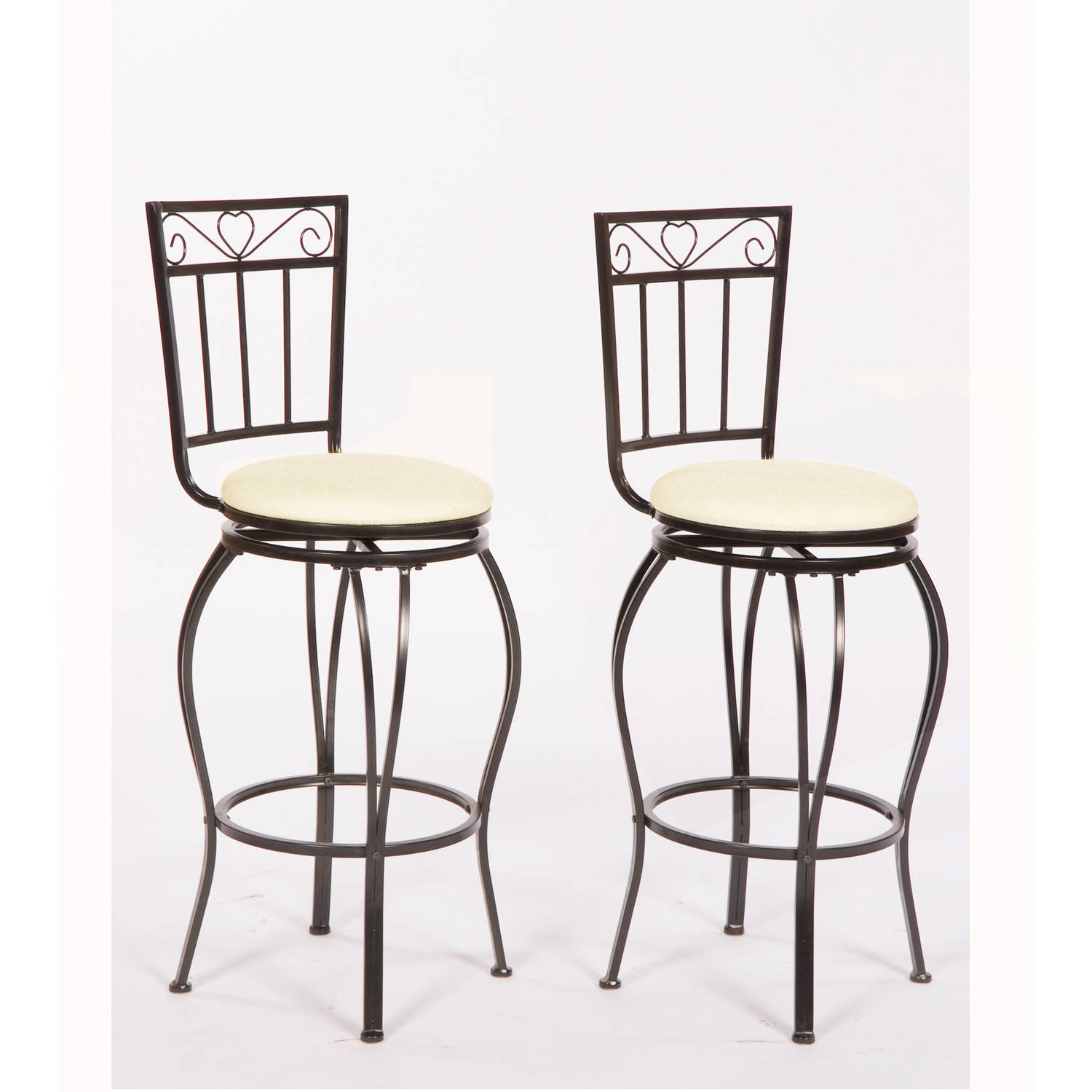 Gabriella Stools, Set of 2, Black Metal