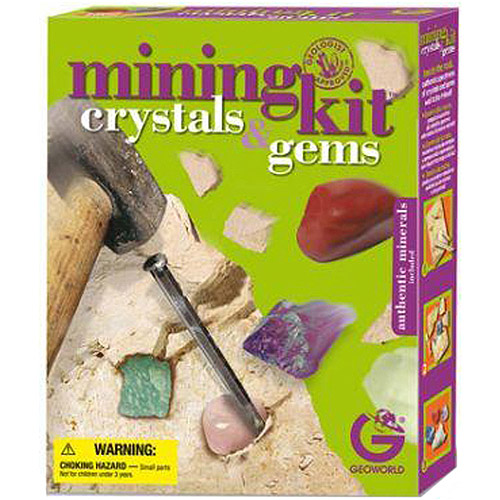 GeoWorld Mining Kit, Crystals and Gems