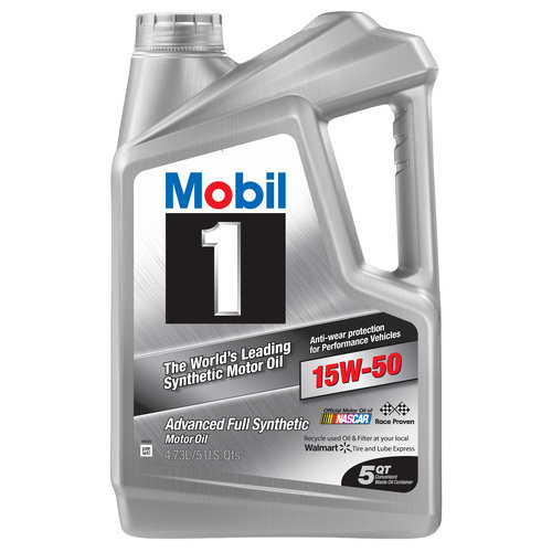 Mobil 1 15W-50 Full Synthetic Motor Oil 5 qt.