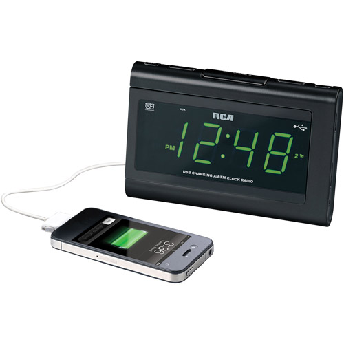 Audiovox RC142 Clock Radio, Black