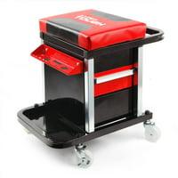 HyperTough 2-Drawer Mechanic Tool Roller Seat
