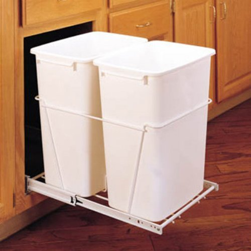 Rev-A-Shelf Double Pull Out Full Extension Slides 35 qt. Trash Can
