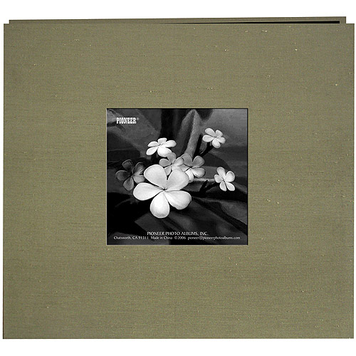 "Silk Postbound Album With Photo Window, 8"" x 8"""
