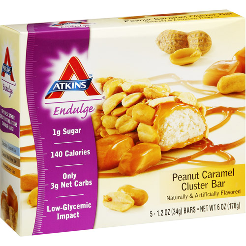 Atkins Endulge Peanut Caramel Cluster Bar, 1.2 oz, 5ct