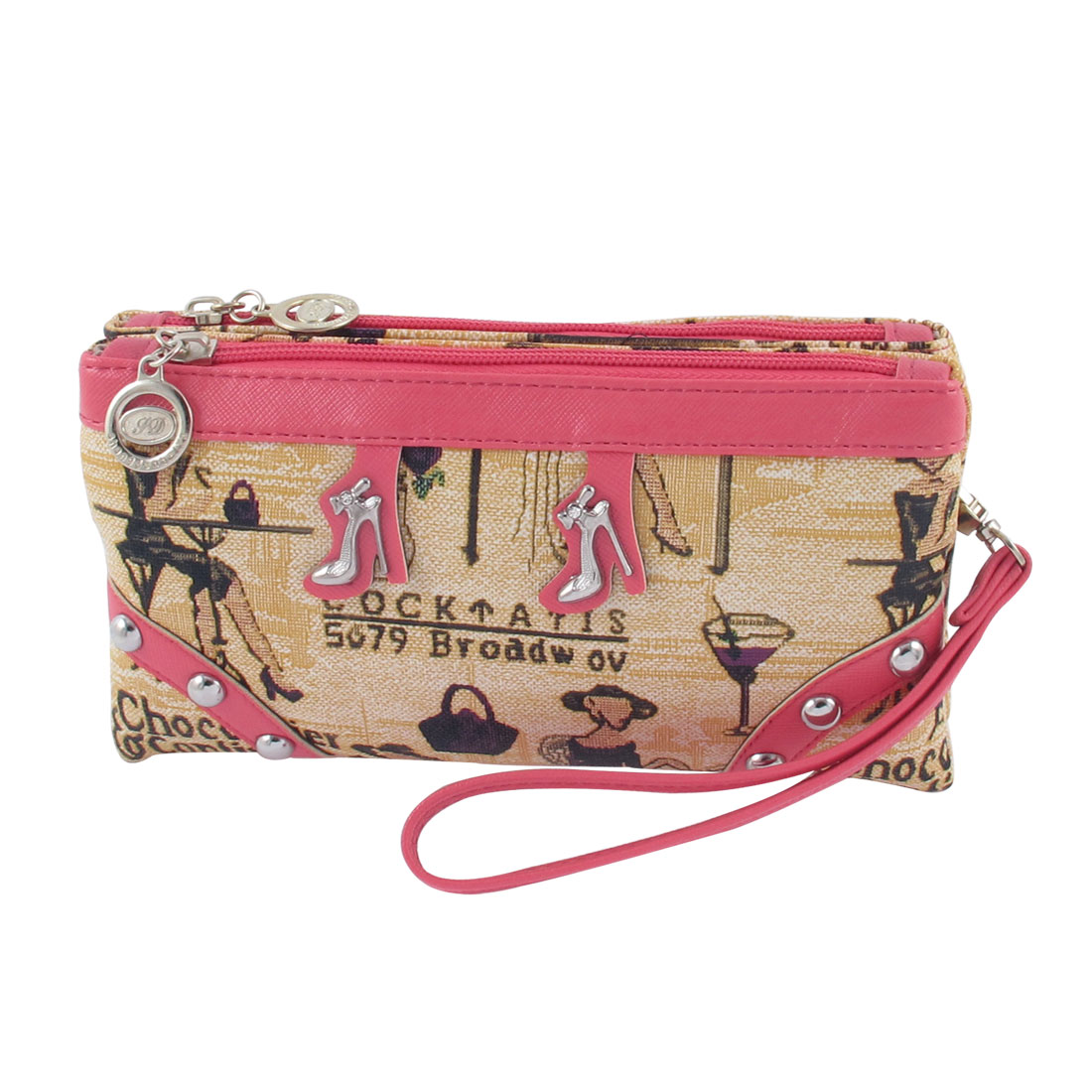 Antje Women's High-Heeled Shoes Decor Shoulder Bag Pink