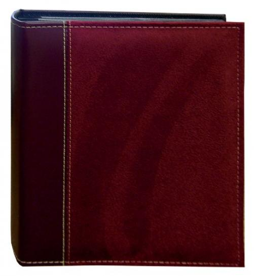 Pioneer Photo Albums 208 Pocket Sewn Faux Suede and Leatherette Cover Album for 4 by 6-Inch Prints, Burgundy