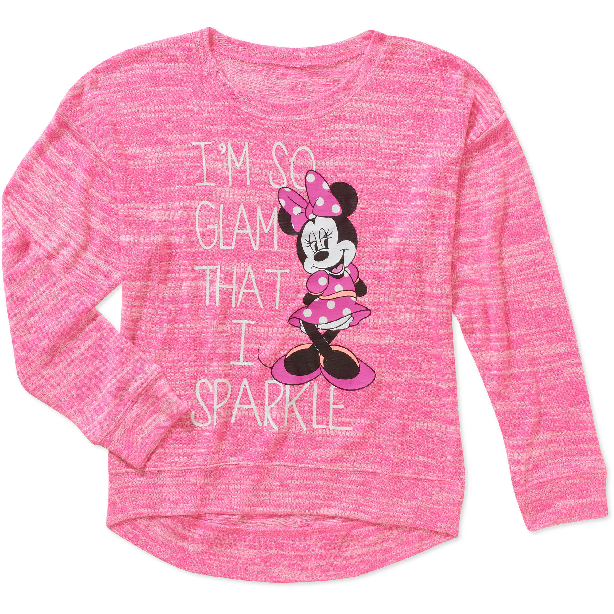 Disney Minnie Mouse Girls' Hacci Graphic Sweatshirt