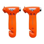 Zone Tech Seatbelt Cutter Window Breaker Emergency Escape Hammer Tool,2 Pack