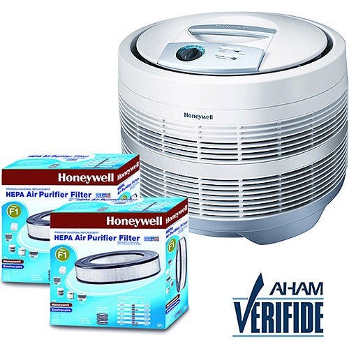 Honeywell True HEPA Air Purifier 50150-N & 2 Bonus HEPA Replacement Filters Value Bundle