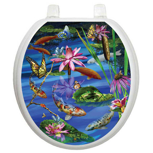 Toilet Tattoos Themes Koi Fish Toilet Seat Decal