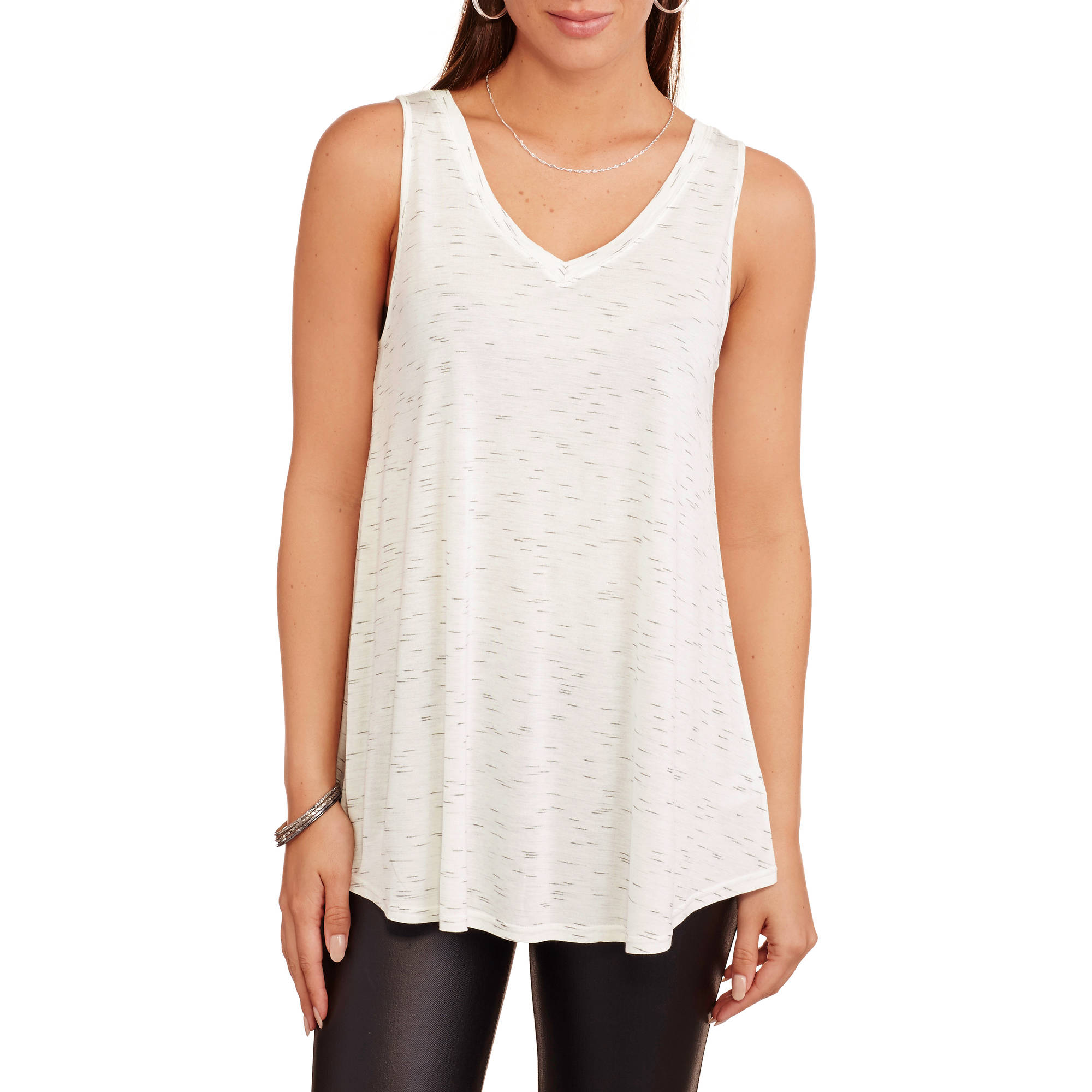 Faded Glory Women's Double V-Neck Flowy Tank