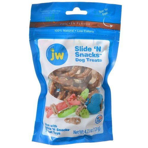 JW Pet Slide N Snacks Dog Treats - Chicken Flavor 5 Ounce