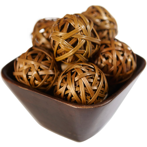 12pk Decorative Balls, Brown