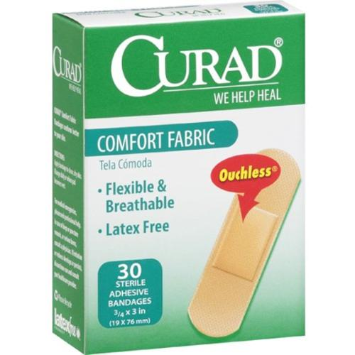 Curad Comfort Fabric Bandages 3/4 x 3 Inches 30 Each (Pack of 2)