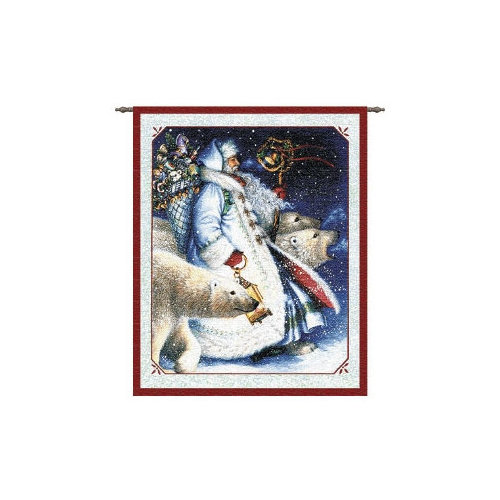 Pure Country Weavers Santa and Polar Bears Tapestry